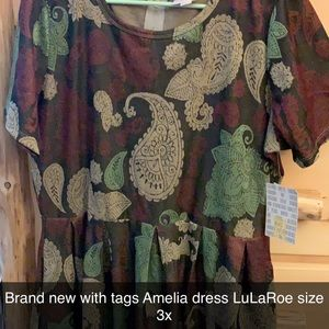 LuLaRoe Amelia Dress NEW WITH TAGS!